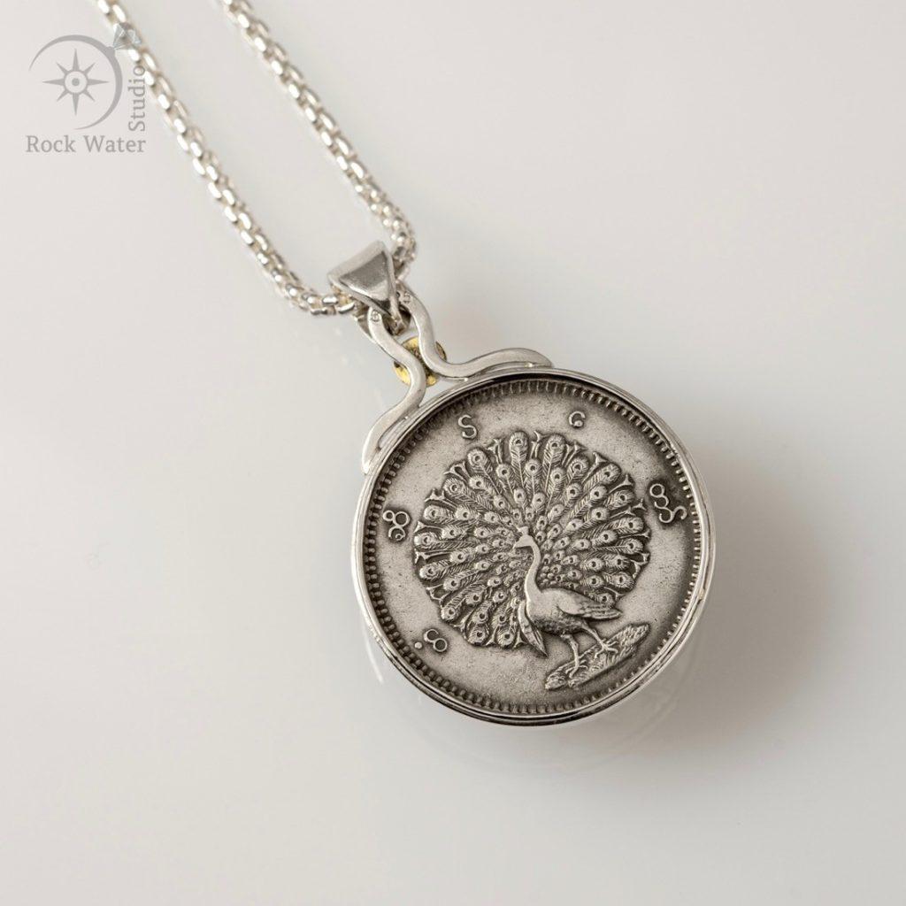 Peacock Coin Necklace (g505)