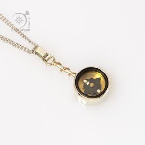 White Gold Eternity Compass Pendant (g436)
