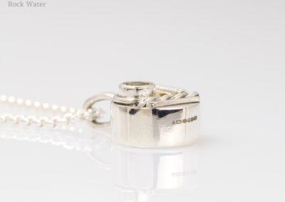 Handmade silver compass pendant gift for girlfriend (g537)