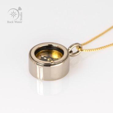 White Gold Graduation Compass Gift (g433)