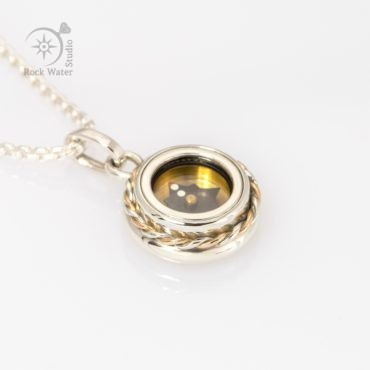 Working Compass Necklace Gift (g533)