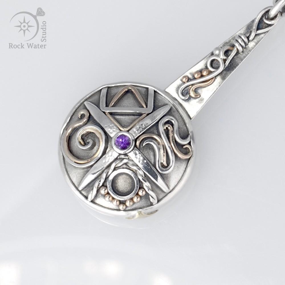 Sapphire Four Seasons Compass Keyring (g491)