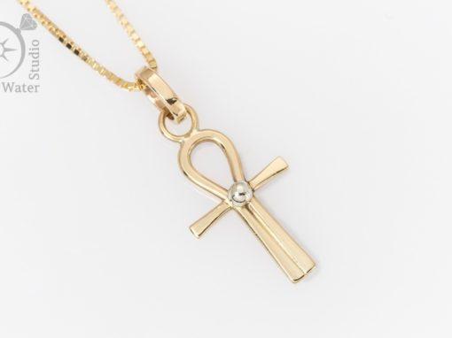 Gold Ankh Cross
