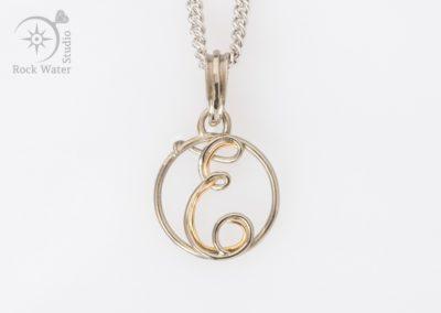 Handmade gold 21st Birthday Necklace