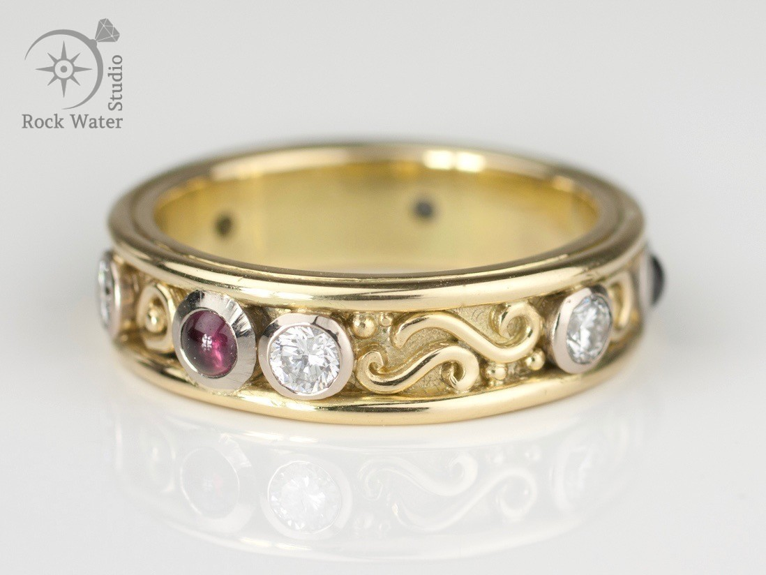 Handmade Gold ring for Wedding Anniversary (g398)