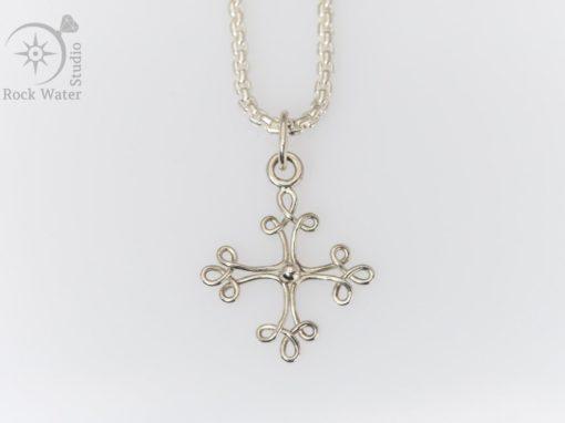 Silver Toulouse Cross Pendant