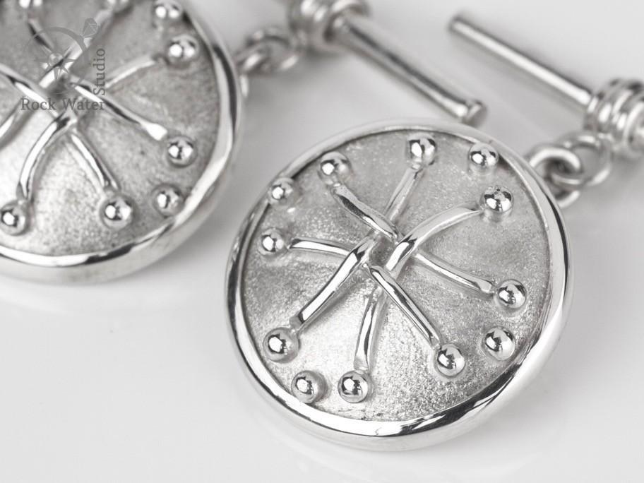 Handmade silver cufflinks gift for her husband (g457)