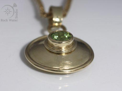 Peridot Gold Lentille Necklace