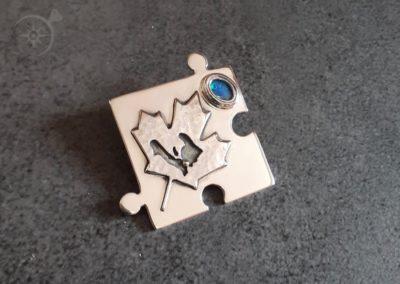 Maple Leaf Silver Jigsaw Pendant g542