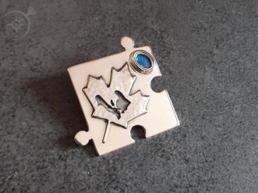 Maple Leaf Jigsaw Pendant