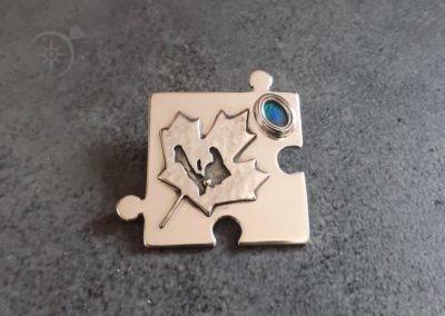 Silver Jigsaw Pendant Gift for Grandson g542
