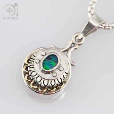 Opal Awakening Compass Pendant