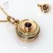 Star Sapphire Working Gold Compass Pendant (g483)
