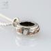 Keepsake silver compass pendant with waterproof compass inside (G556)